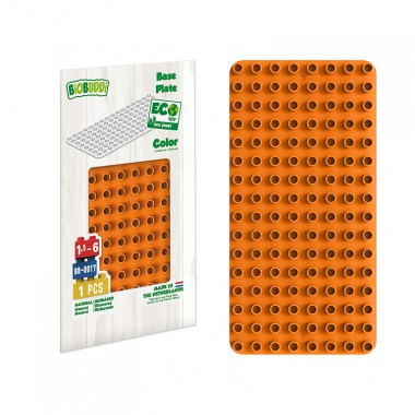 BiOBUDDi Educational base plate - Orange