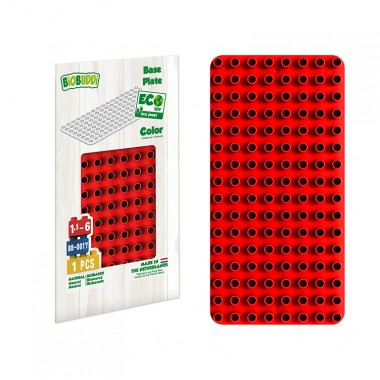 BiOBUDDi Educational base plate - Red