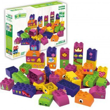 BiOBUDDi Educational blocks with 1 baseplate - girls