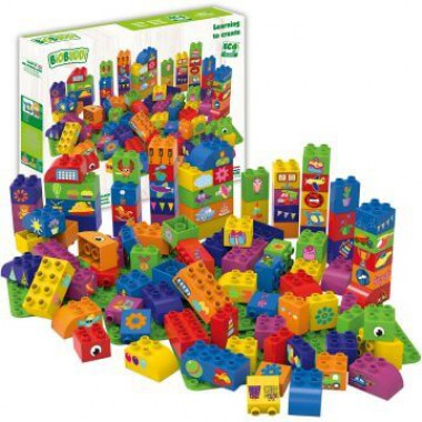 BiOBUDDi Educational blocks with 3 baseplates