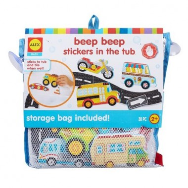 Alex Brands - Stickers in the Tub 38pc - Beep Beep
