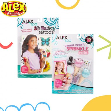 Alex Brands - Sweet Scent Sprinkle Nails + Tattoos - 3D Illlusion