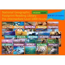 National Geographic Footprint Reading Library - Pre-intermediate Level 1000 Headwords (Box Set - 15 books)