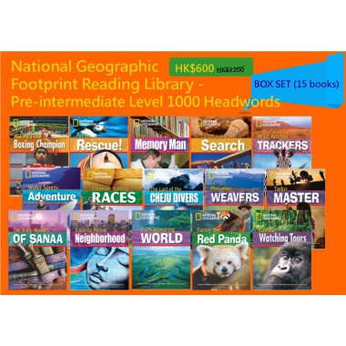 National Geographic Footprint Reading Library - Pre-intermediate Level 1000 Headwords (Box Set - 15 books)