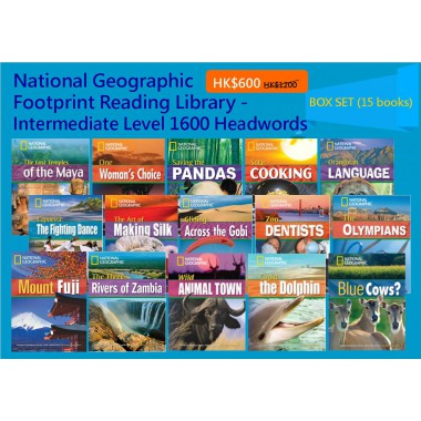 National Geographic Footprint Reading Library - Itermediate Level 1600 Headwords (Box Set - 15 books)