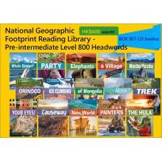 National Geographic Footprint Reading Library - Pre-intermediate Level 800 Headwords (Box Set - 15 books)
