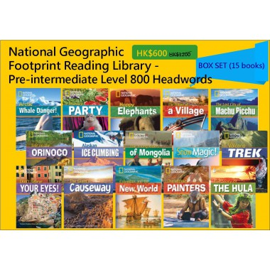 National Geographic Footprint Reading Library - Pre-intermediate Level 800 Headwords (Box Set - 15 books)