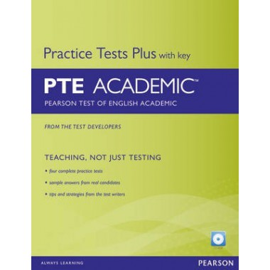 Pearson Test Plus With Key PTE Academic : Pearson Test of English Academic