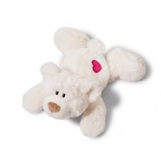 NICI Love Bear White with Heart Lying 20cm