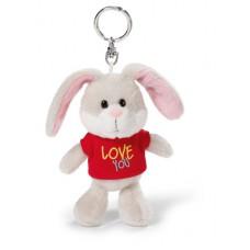 "NICI Rabbit with T-shirt ""Love you"" 10cm bb kh"