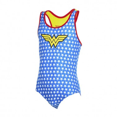 Zoggs - Girl's Wonder Woman Actionback (Blue/Yellow)
