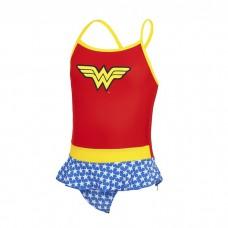 Zoggs - Girl's Wonder Woman Swimdress (Red/Yellow/Blue)