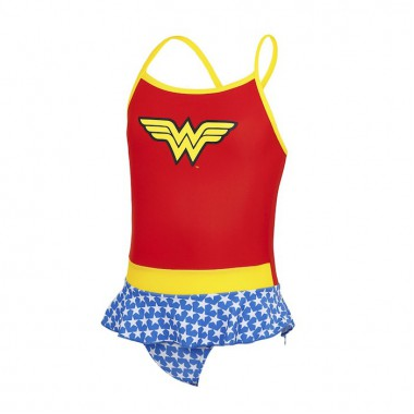 Zoggs - Girl's Wonder Woman Swimdress (Red/Yellow/Blue)