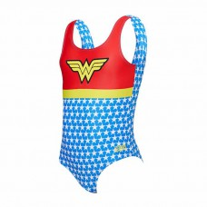 Zoggs - Girl's Wonder Woman Scoopback (Red/Yellow/Blue)