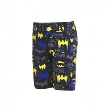Zoggs - Boy's Batman Printed Water Shorts (Black/Yellow)