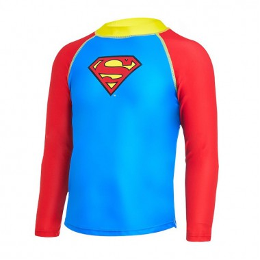 Zoggs - Child's Superman Long Sleeve Sun Top (Blue/Red)