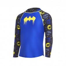 Zoggs - Child's Batman Long Sleeve Sun Top (Blue/Black/Yellow)