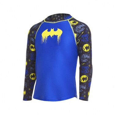 Zoggs - Child's Batman Long Sleeve Sun Top (Blue/Black/Yellow)