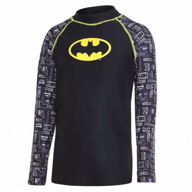 Zoggs - Junior's Batman Long Sleeve Sun Top (Black/Yellow)