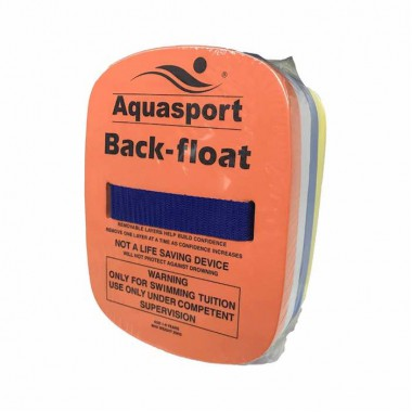 Aquasport - Back Float (Orange/White/Yellow)