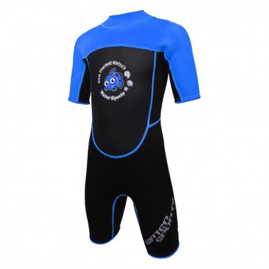 Water Sports - 3.0mm Child's High Stretch Thermal Suit (Blue)