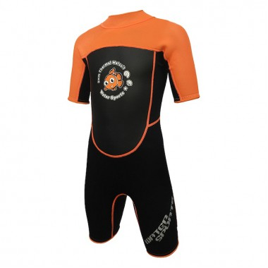 Water Sports - 3.0mm Child's High Stretch Thermal Suit (Orange)