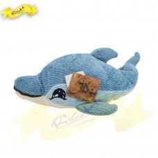 Color Rich - Chenille Knitted Dolphin Cushion