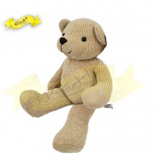 Color Rich - Chenille Knitted Teddy Bear Beige