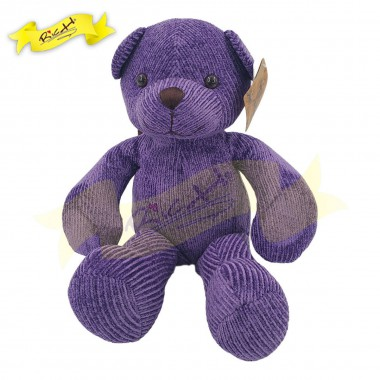Color Rich - Chenille Knitted Teddy Bear Purple