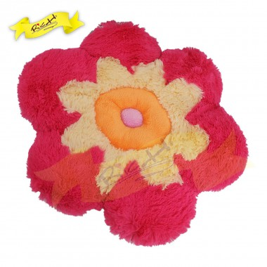 Color Rich - Bolster Pillow Cushion Hotpink Flower