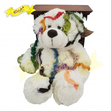 Color Rich - Rainbow Ribbon Patchwork Bear