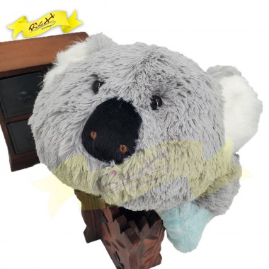 Color Rich - 2-in-1 Foldable Cushion Pillow - Koala (blue)