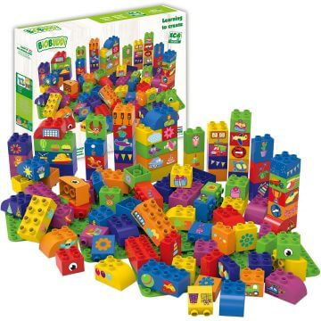 BiOBUDDi Educational blocks with 3 baseplates