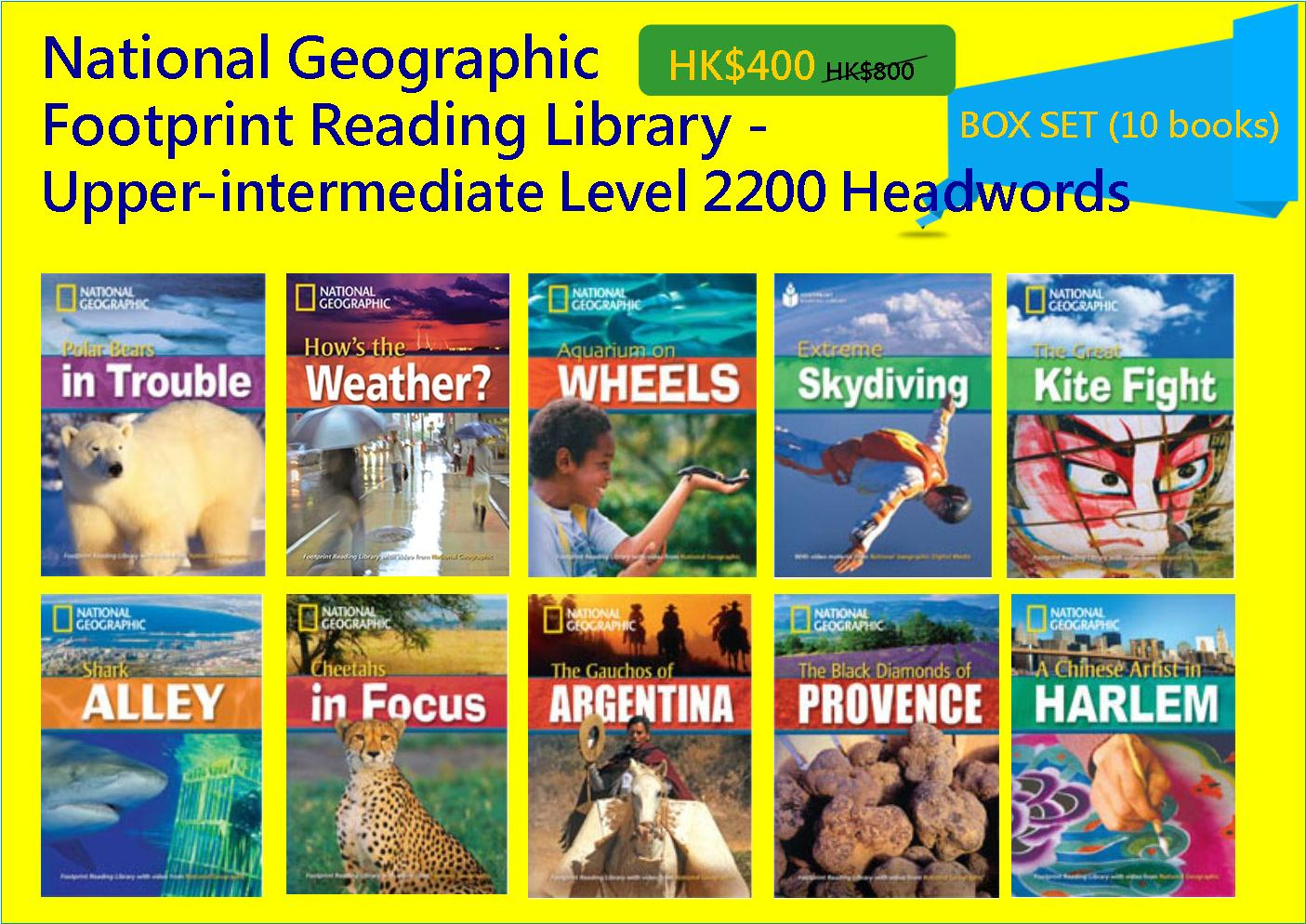 National Geographic Footprint Reading Library - Upper-intermediate Level 2200 Headwords (Box Set - 10 books)