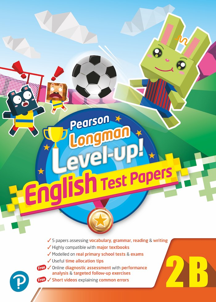 PEARSON LONGMAN LEVEL UP! ENGLISH TEST PAPERS 2B