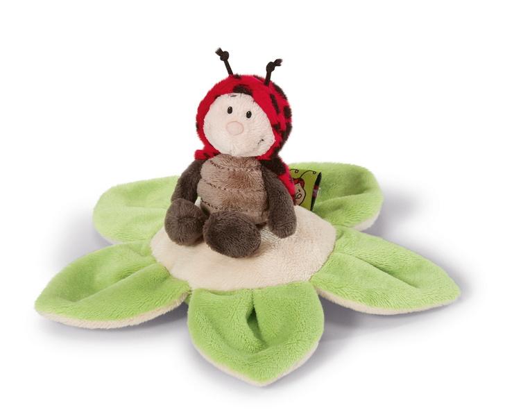 NICI Ladybird 10cm on flower cushion