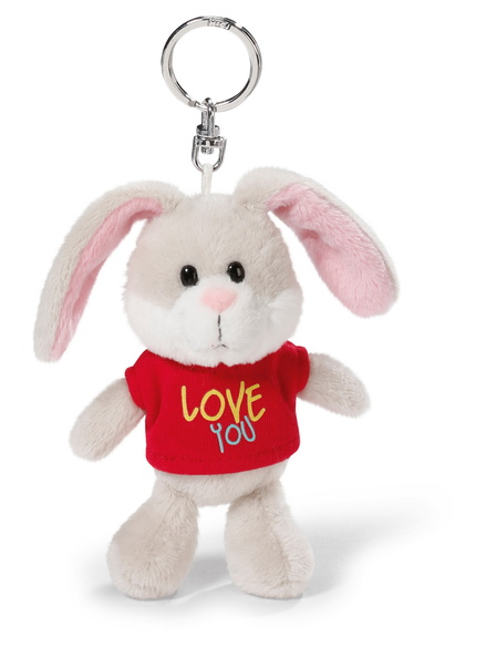 "NICI Rabbit with T-shirt ""Love you"" 10cm bb kh"