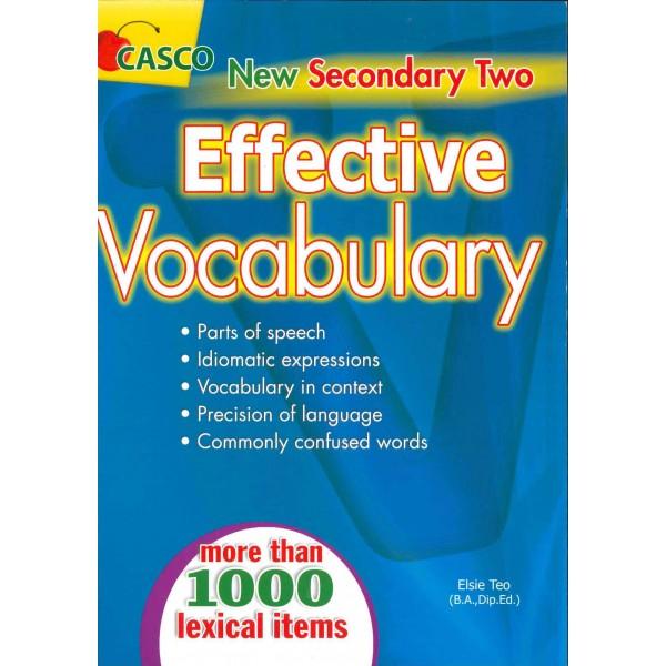New Sec 2 Effective Vocabulary