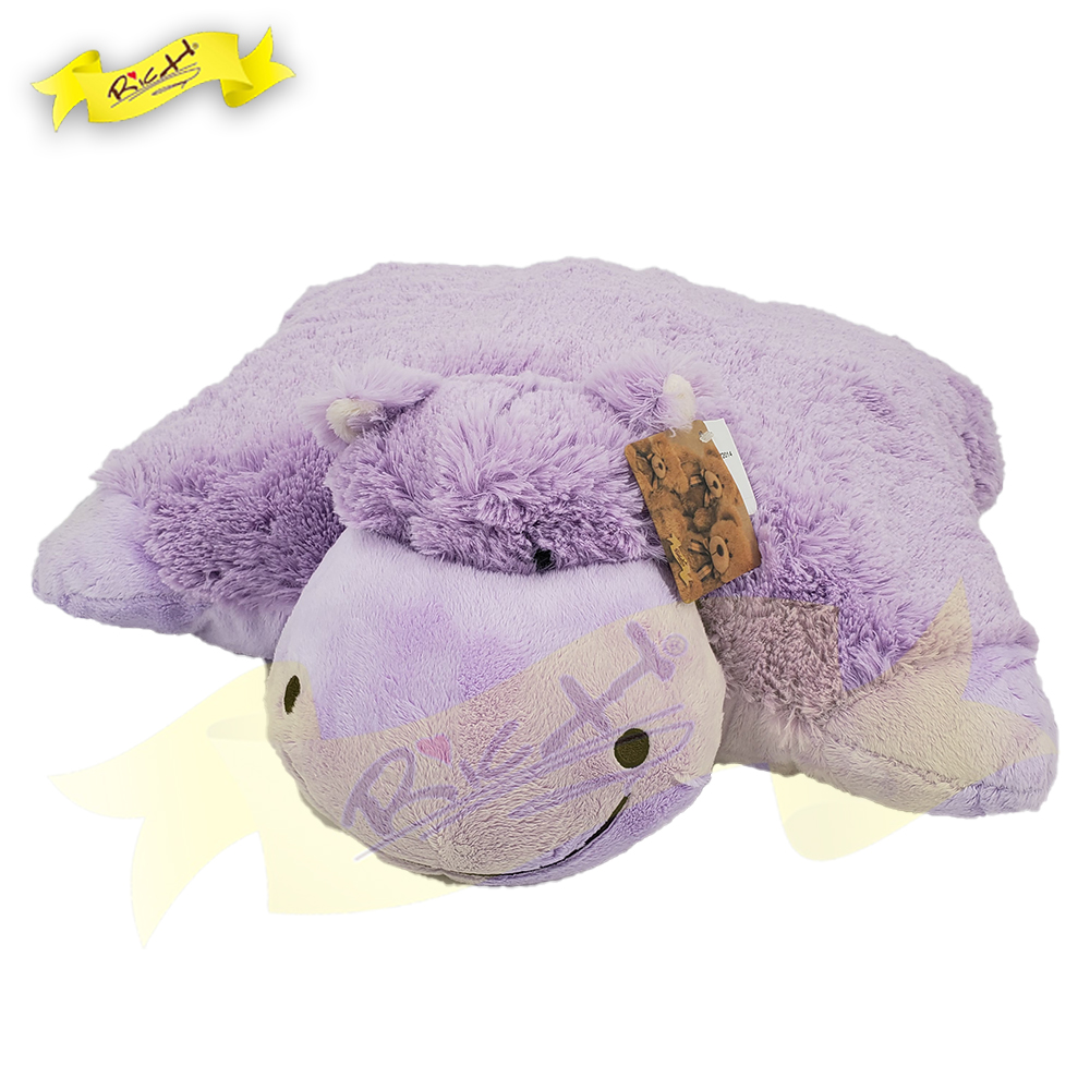 Color Rich - Folding Cushion Pillow - Purple Hippo