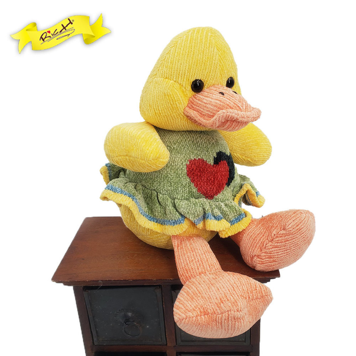 Color Rich - Chenille Knitted Ducky with Dress