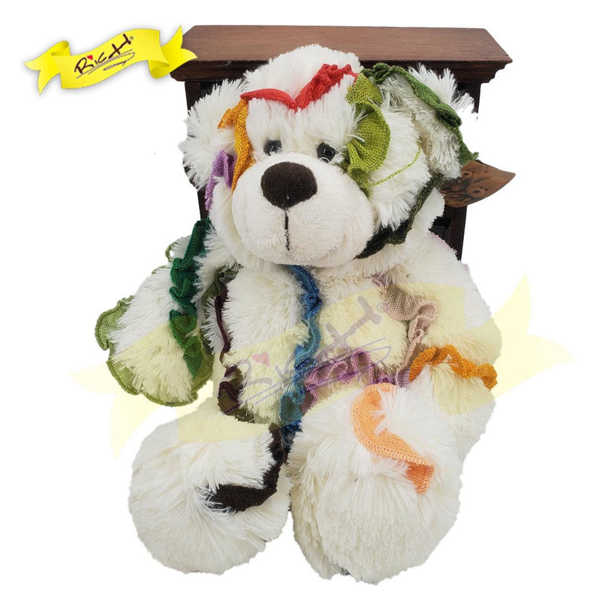 Color Rich - Rainbow Ribbon Patchwork Bear